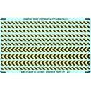 H0 - Yellow - black warning stripes