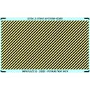 TT - Yellow - black stripes (area for cutting)