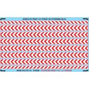 H0 - Red - white warning stripes