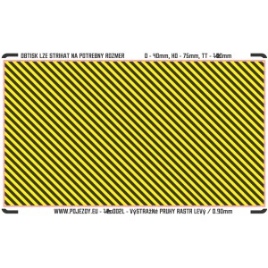 TT - Yellow - black stripes (area for cutting, L)