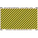H0 - Yellow - black stripes (area for cutting)