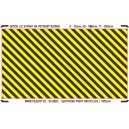 H0 - Yellow - black stripes (area for cutting, L)