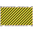 0 - Yellow - black stripes (area for cutting, R)