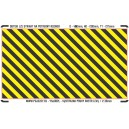 0 - Yellow - black stripes (area for cutting, L)