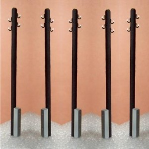 H0 - Power poles - 4x power line, 12 pcs