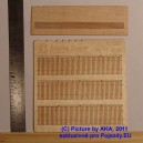 PL8014 - Wooden fence - plans with decorated ends (H0 scale)