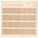 PL8018 - Wooden fence - plans with decorated ends (H0 - scale)