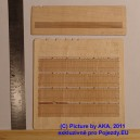 PL8017 - Wooden fence - plans with decorated ends (H0 scale)