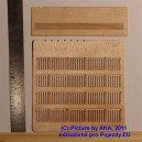 PLT019 - Wooden fence - plans with decorated ends (TT scale)