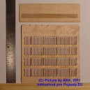 PLT020 - Wooden fence - plans with decorated ends (TT scale)